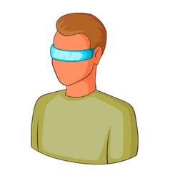 man in futuristic glasses icon cartoon style vector image vector image