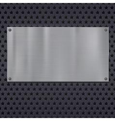 Metallic stars texture pattern vector image vector image