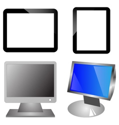Monitors and ipad vector image