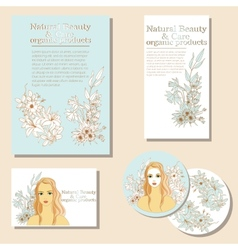 Natural Beauty and Care organic products vector image vector image