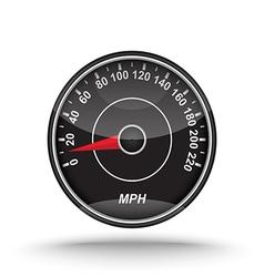 realistic speedometer vector image vector image