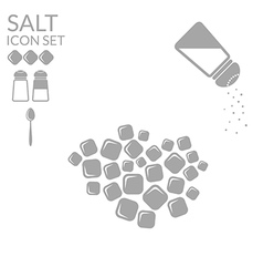 Salt Icon set vector image vector image