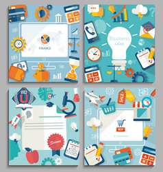 Set of business concepts vector