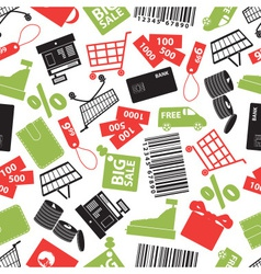 Shopping icons color pattern eps10 vector