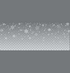 snowflakes falling christmas decoration isolated vector image