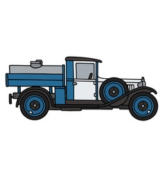 Vintage dairy tank truck vector image vector image