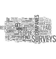 What exactly are paid surveys text word cloud vector