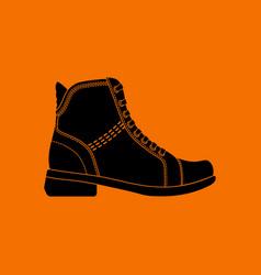 Woman boot icon vector