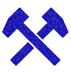 Work hammers icon grunge watermark vector