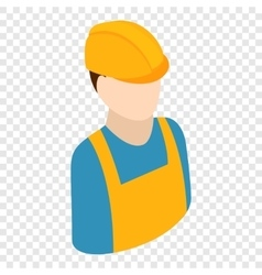 Worker isometric 3d icon vector