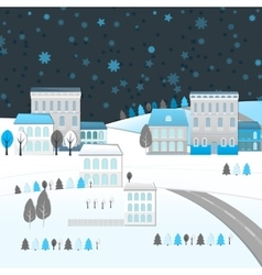 04 city winter landscape vector