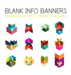 Banners business backgrounds and presentations vector