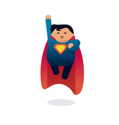 superhero icon concept fat character flying flat vector image