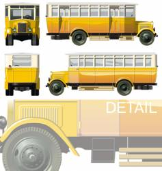 Vintage city bus 30-s vector