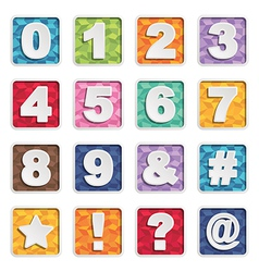 Number icons vector