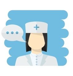 Nurse avatar vector