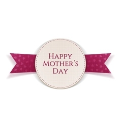 Mothers day greeting card with text vector