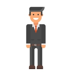Business man icon silhouette office people vector