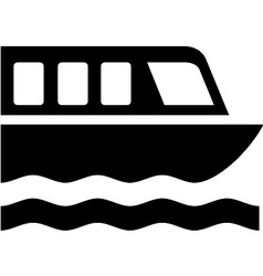 Boat tour symbol vector