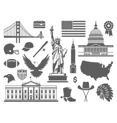 Traditional symbols of the usa vector