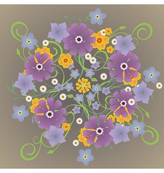 A mandela of flowers vector