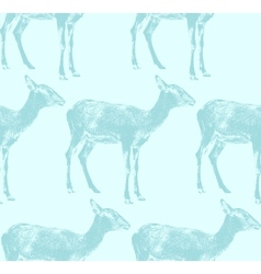 An antelope seamless animal pattern vector
