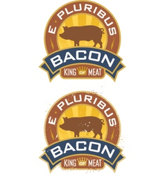 Bacon emblem vector