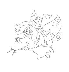 Beautiful cartoon fairy with magic wand zFor vector image