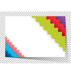 Businesscard template with colorful zigzag lines vector