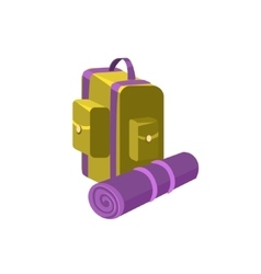 Camping Backpack vector image vector image