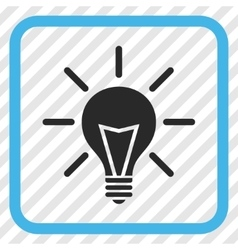 Electric light icon in a frame vector