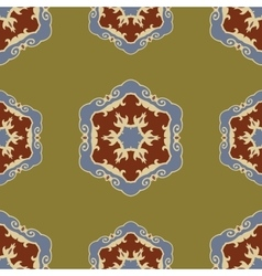 Ethnic seamless ornamental pattern boho vector