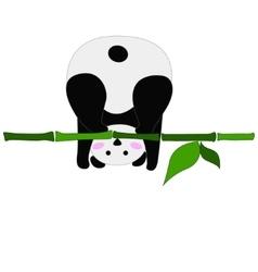 Funny panda vector