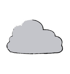 Gray cloud weather climate icon vector