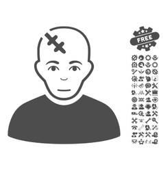 Head Hurt Icon With Tools Bonus vector image vector image