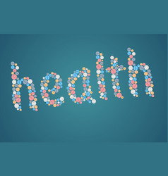 healthcare concept - tablets vector image vector image