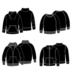 Hoodies 3 Black vector image