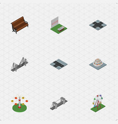 Isometric urban set of aiming game plants vector