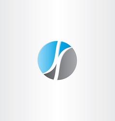 letter k in circle logo design vector image