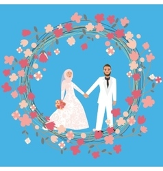 Man woman couple relationship marriage in islam vector