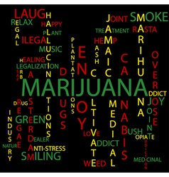 Marijuana background vector image vector image