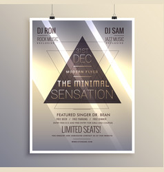 minimal flyer template for new year eve vector image vector image