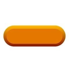 Orange button icon flat style vector