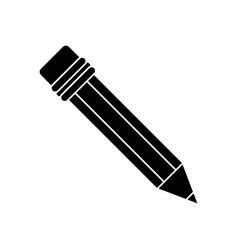 Pencil school utensil wood pictogram vector