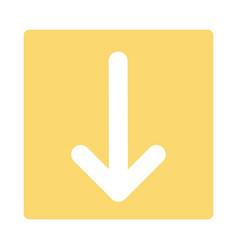 Pointer arrow in modern flat style arrow button vector