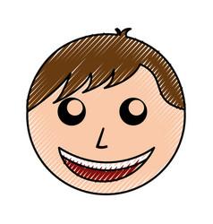 Scribble man face cartoon vector