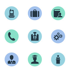 Set of simple hr icons vector