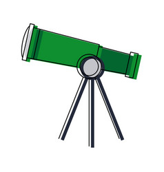 Telescope for astronomy science study equipment vector
