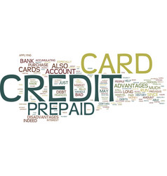 The marvel of a prepaid credit card text vector