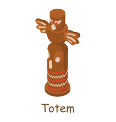 Totem icon isometric 3d style vector